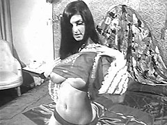 Lady Shows All 89 (Black and White Vintage)